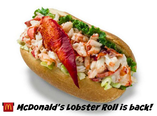 Summer in New England // McDonald's Lobster Roll is Back! - The New ...